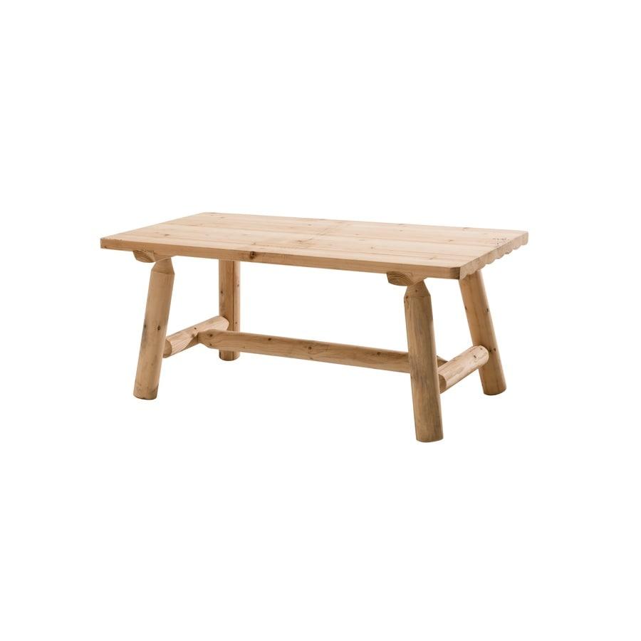 Sunjoy Fairbanks 22.5-in W x 42-in L Rectangle Douglas Fir Coffee Table