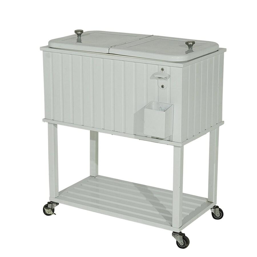 Sunjoy 60-Quart Wheeled Steel Cart Cooler