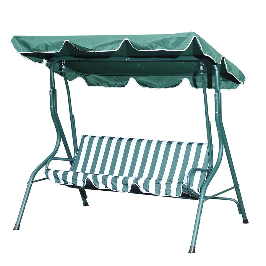 shop sunjoy 3 seat steel traditional porch swing at