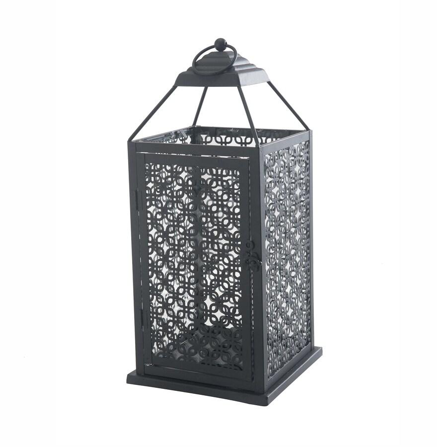 Sunjoy 7.75-in x 19-in Bronze Metal Pillar Candle Outdoor Decorative Lantern