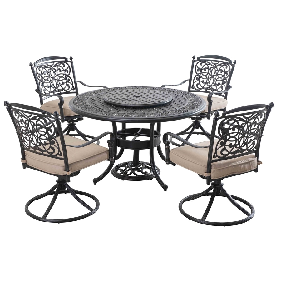 Sunjoy Renaissance 7-Piece Brown Aluminum Dining Patio Dining Set