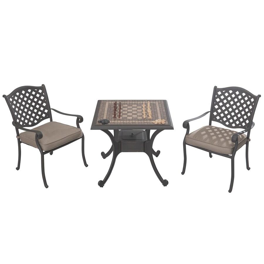 Sunjoy 32-in W x 32-in L Square Aluminum Bistro Table