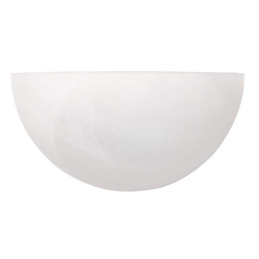Century 10-in W 1-Light Matte White Pocket Wall Sconce