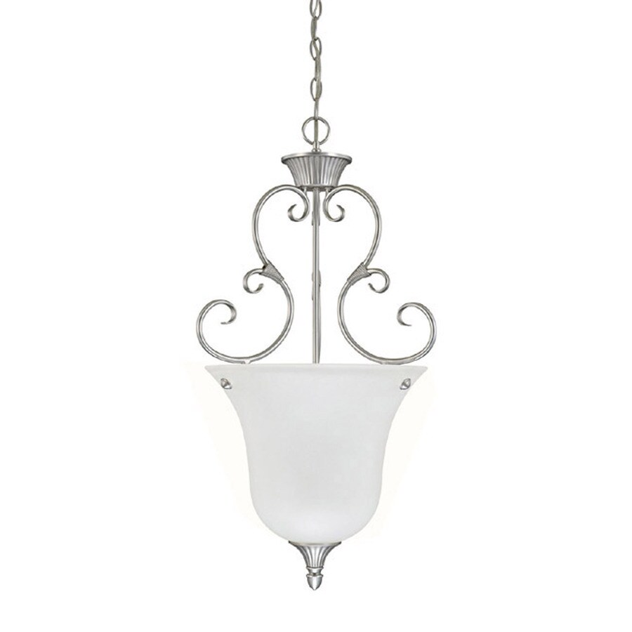Century 17-in Matte Nickel Single Pendant