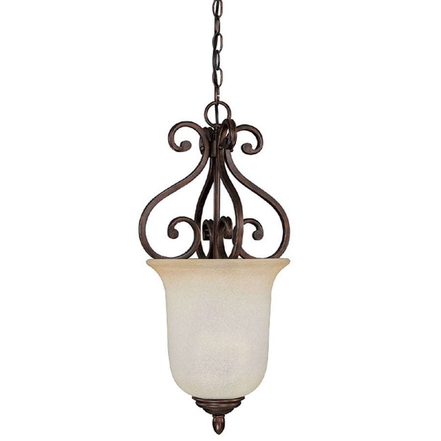 Century 11.75-in Burnished Bronze Single Pendant