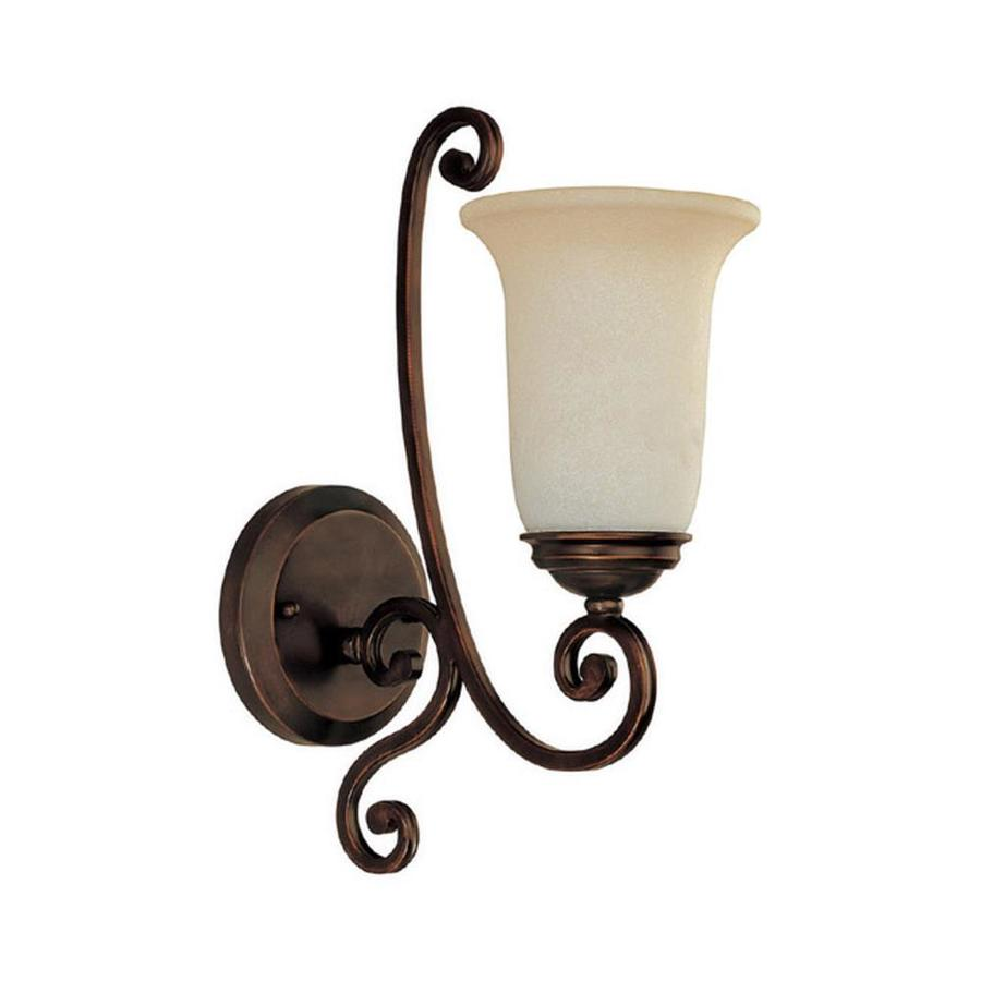 Century 5.5-in W 1-Light Burnished Bronze Arm Wall Sconce