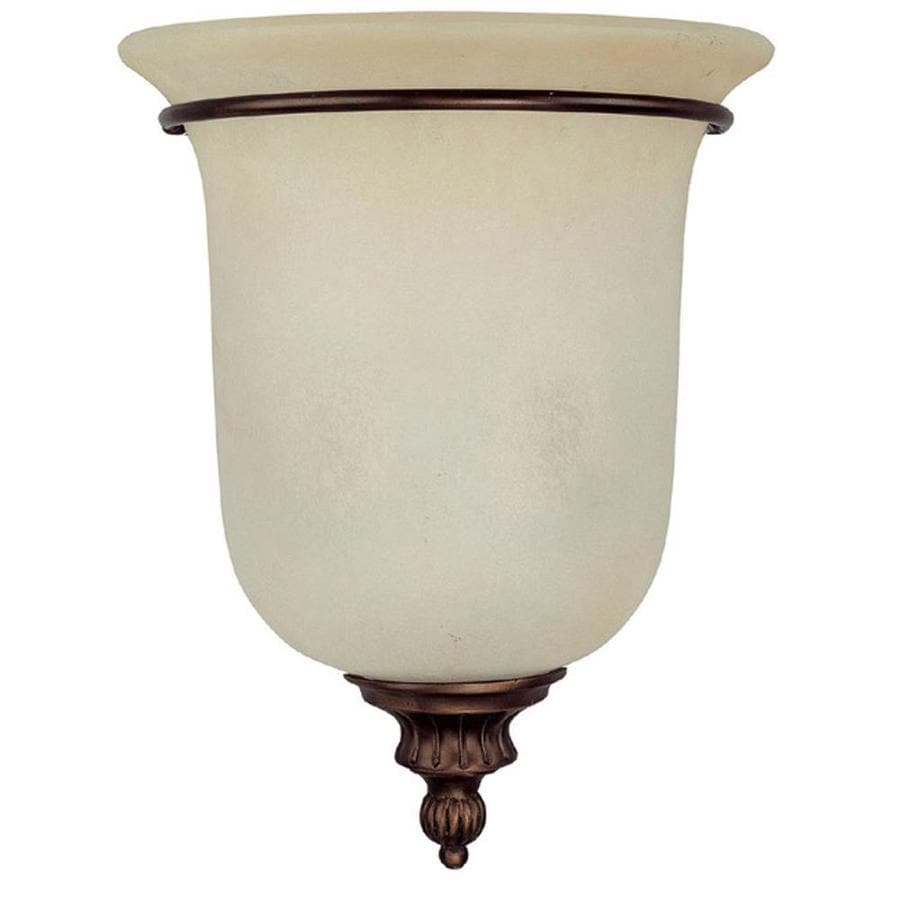 Shop Century 11-in W 2-Light Burnished Bronze Corner Wall Sconce at Lowes.com