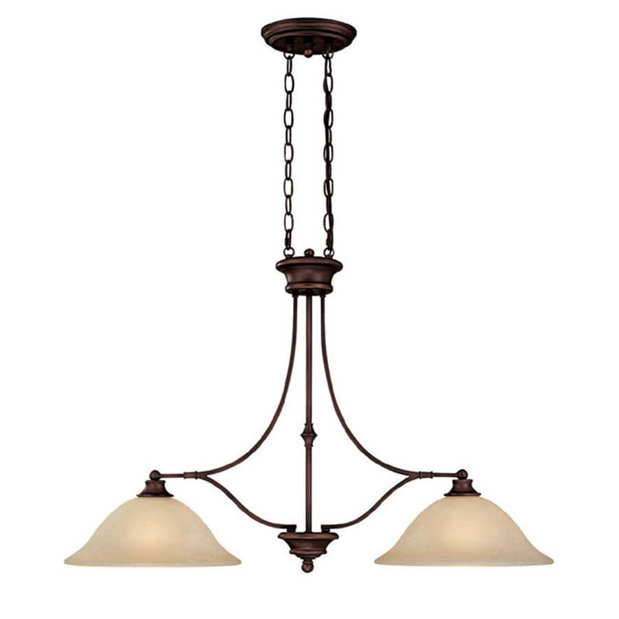 Century 36-in Burnished Bronze Single Tinted Glass Pendant