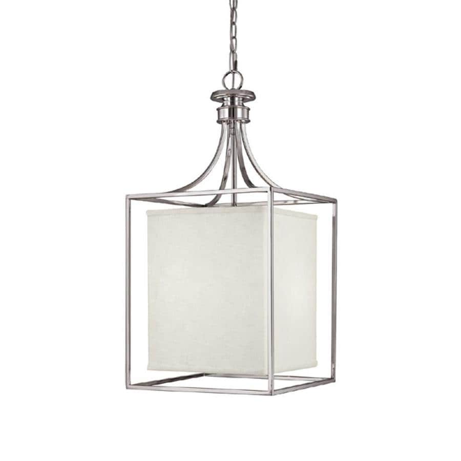 Century 14-in Polished Nickel Single Pendant