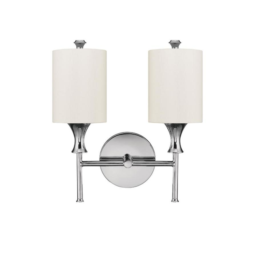 Century 12.5-in W 2-Light Polished Nickel Arm Wall Sconce