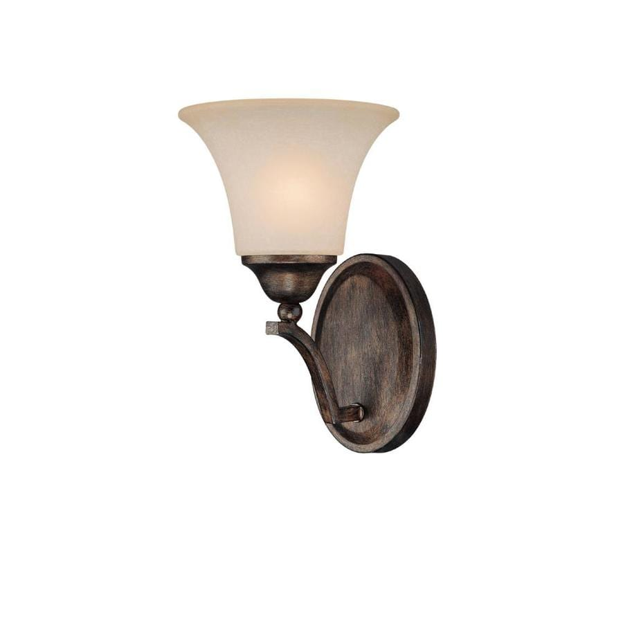 Century 7-in W 1-Light Rustic Arm Wall Sconce
