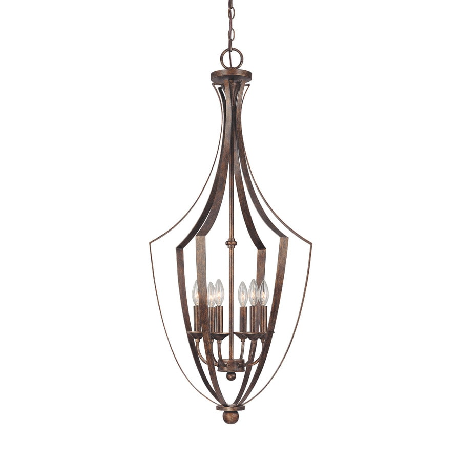 Century 19-in Rustic Single Clear Glass Pendant