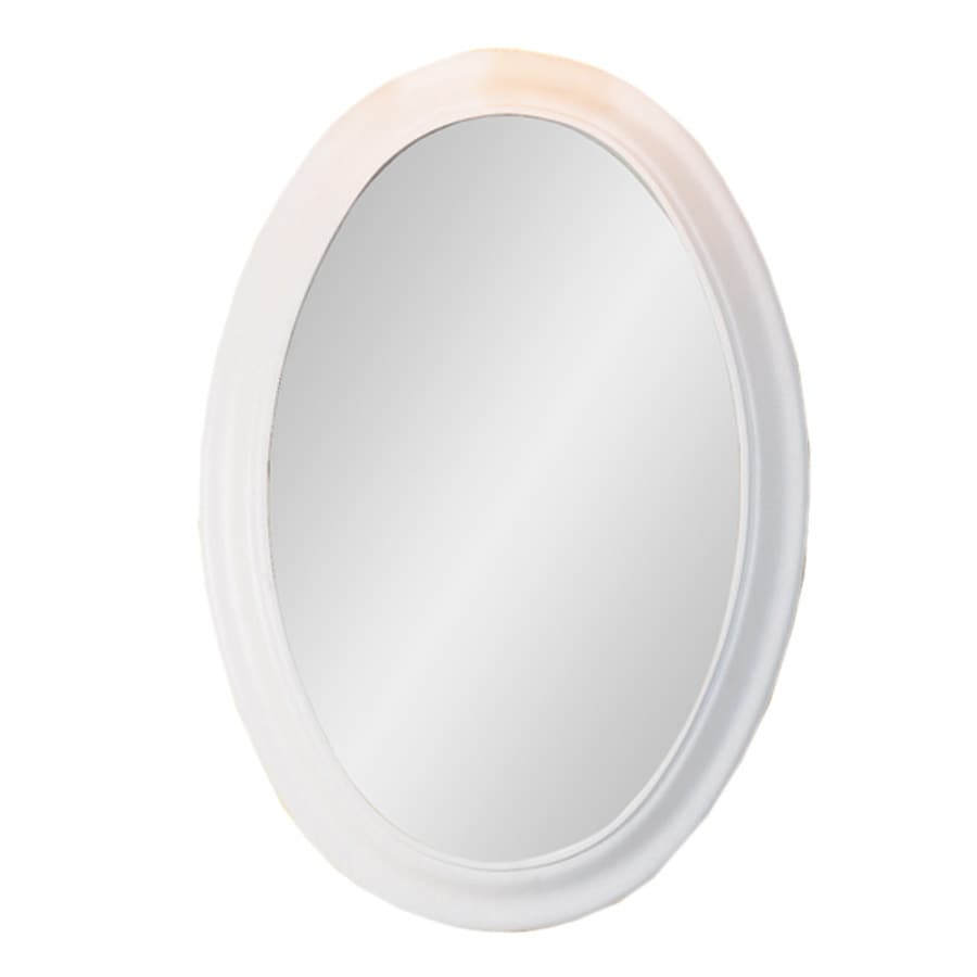 DECOLAV 31-in H x 21-1/2-in W Bathroom Furniture White Oval Bathroom Mirror