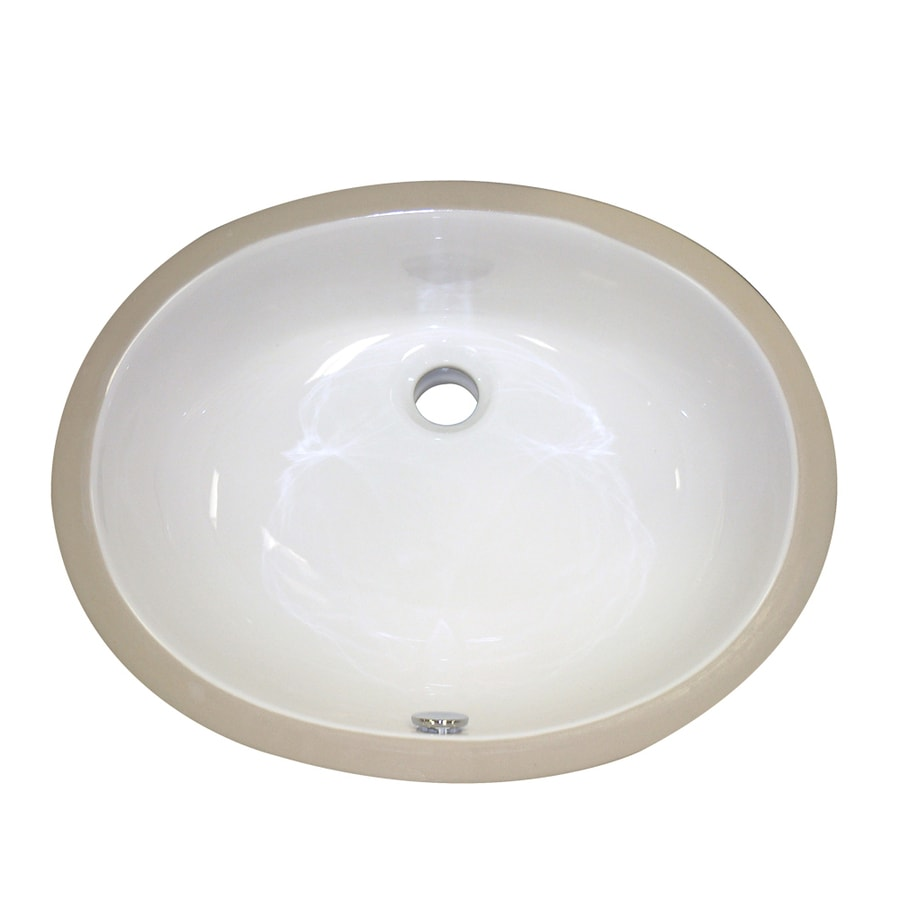 DECOLAV Classically Redefined White Undermount Oval Bathroom Sink with Overflow