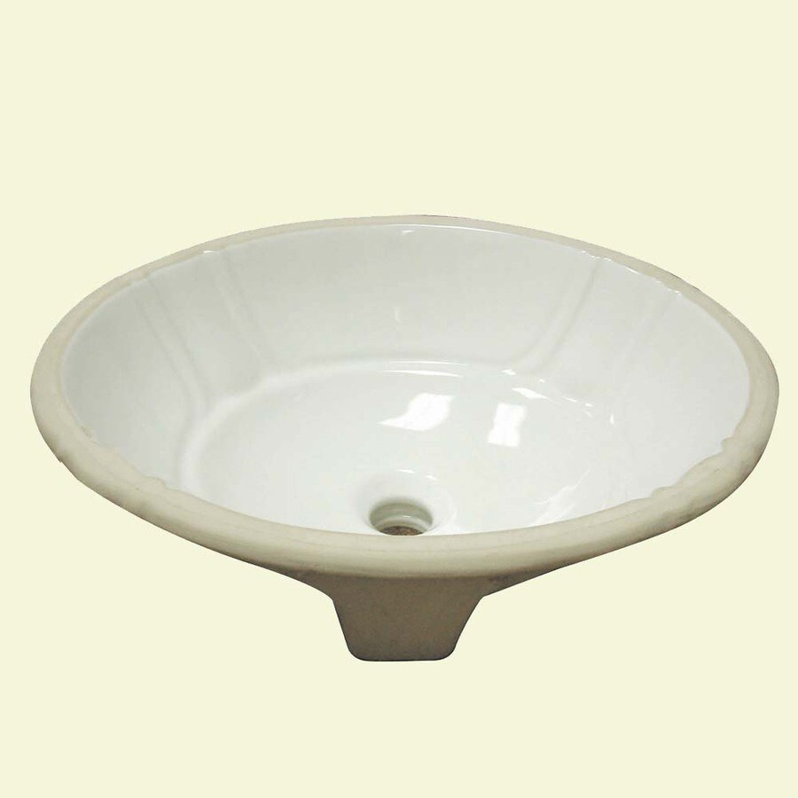 Oval Sink Bathroom : ... Ceramic White Undermount Oval Bathroom Sink with Overflow at Lowes.com