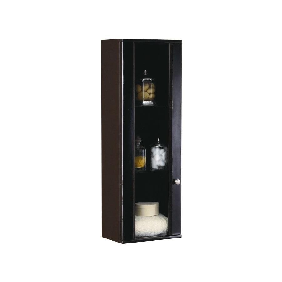 DECOLAV Bathroom Furniture 15-in W x 43.25-in H x 9.875-in D Espresso Birch Bathroom Wall Cabinet