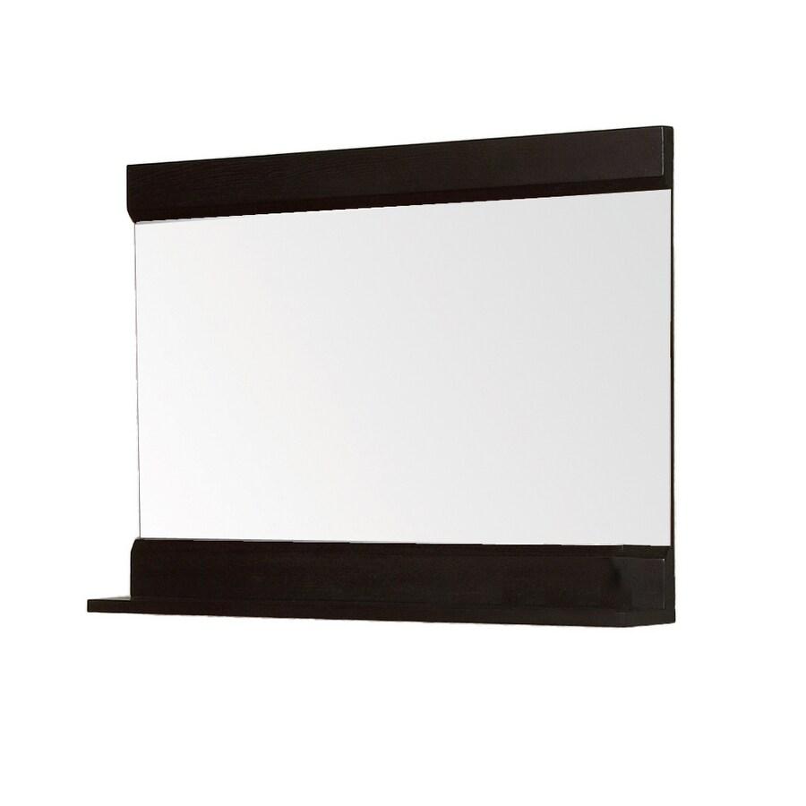 DECOLAV 24-1/8-in H x 32-3/4-in W Sag Harbour Espresso Rectangular Bath Mirror