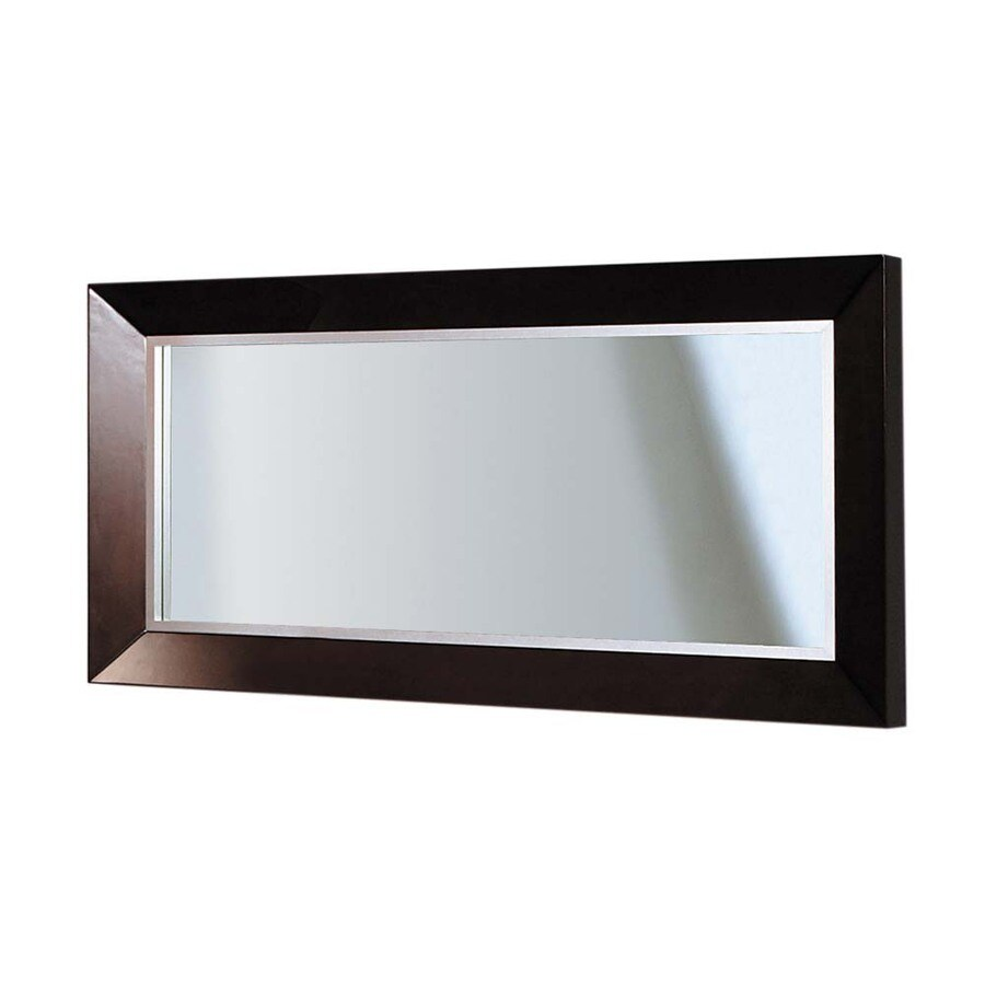 DECOLAV 30-in H x 60-in W Cityview Suite Red Mahogany Rectangular Bathroom Mirror