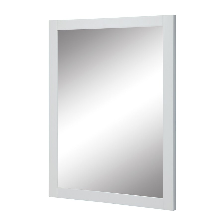 DECOLAV 32-in H x 24-in W Cameron Collection White Rectangular Bathroom Mirror