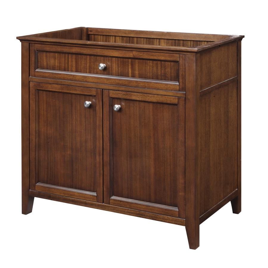 Shop decolav jordan modular mahogany contemporary bathroom for Prefab vanity