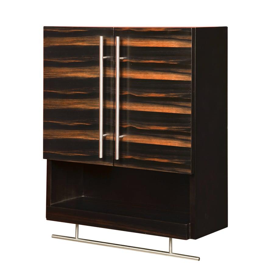 DECOLAV Mila 22-in W x 26-in H x 9-in D Ebony and Espresso Birch Bathroom Wall Cabinet