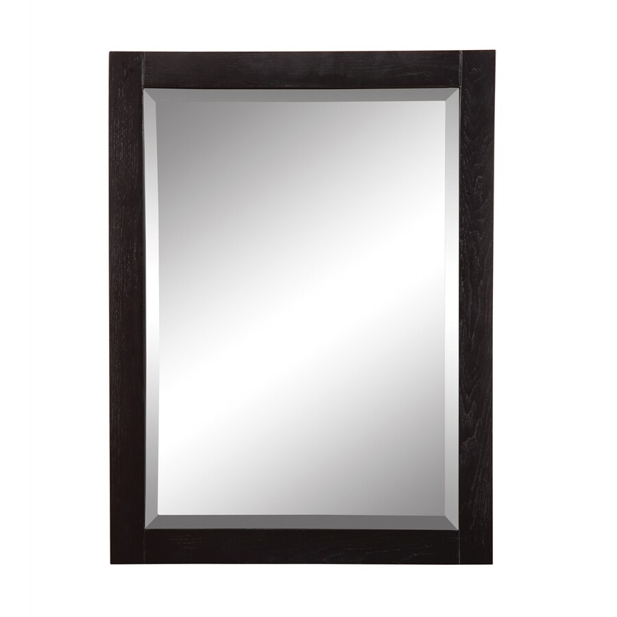 DECOLAV Briana 24-in W x 32-in H Black Rectangular Bathroom Mirror