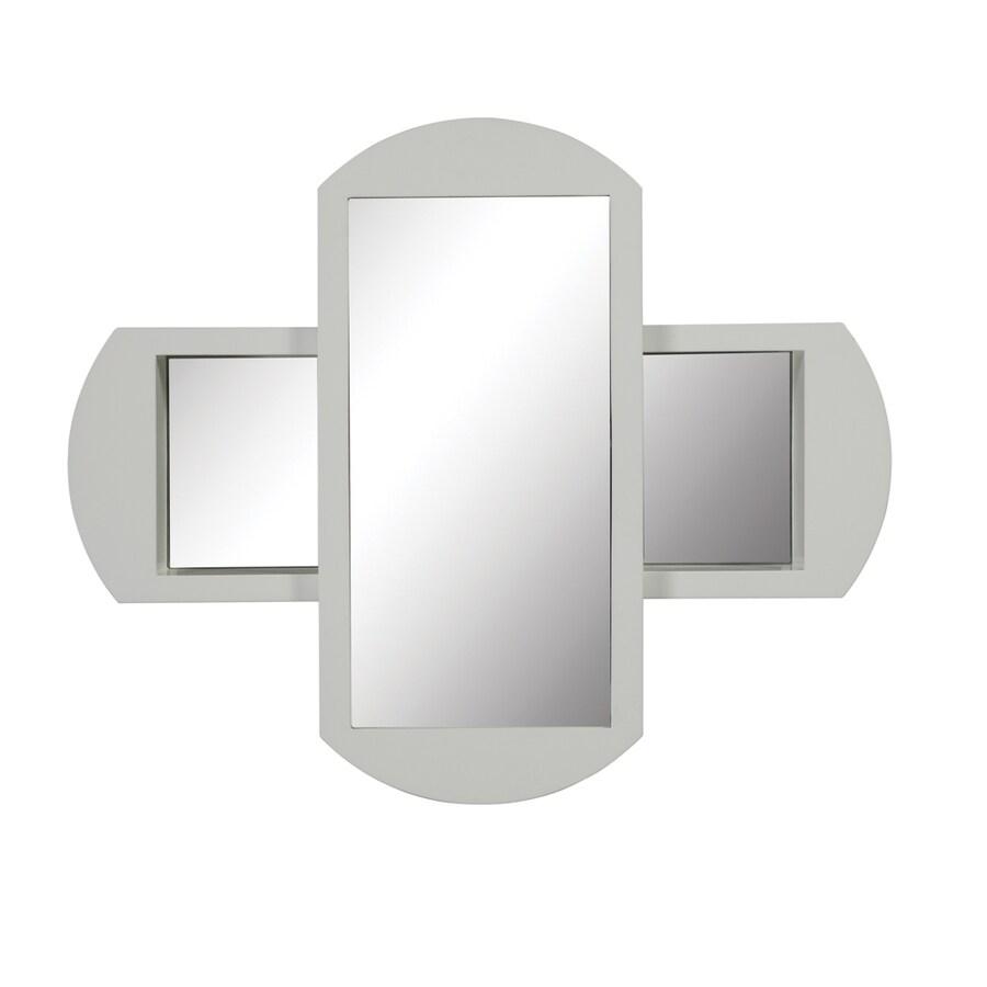 DECOLAV 30-in H x 36-in W Gabrielle Collection White Rectangular Bathroom Mirror