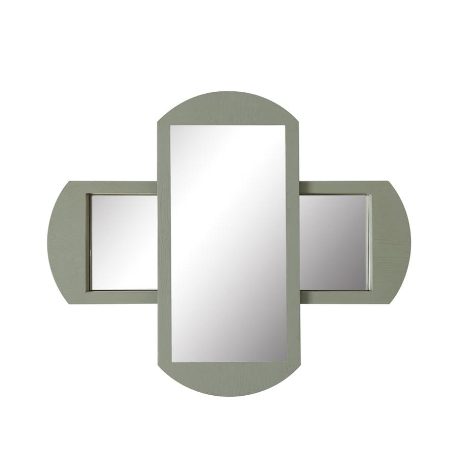 DECOLAV Gabrielle 36-in W x 30-in H Slate Rectangular Bathroom Mirror
