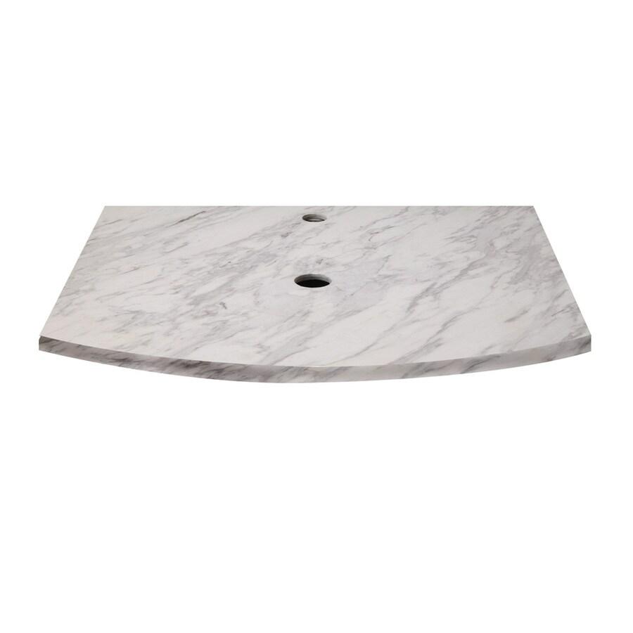 DECOLAV Lola Bianco Natural Marble Bathroom Vanity Top (Common: 25-in x 22-in; Actual: 25-in x 22-in)