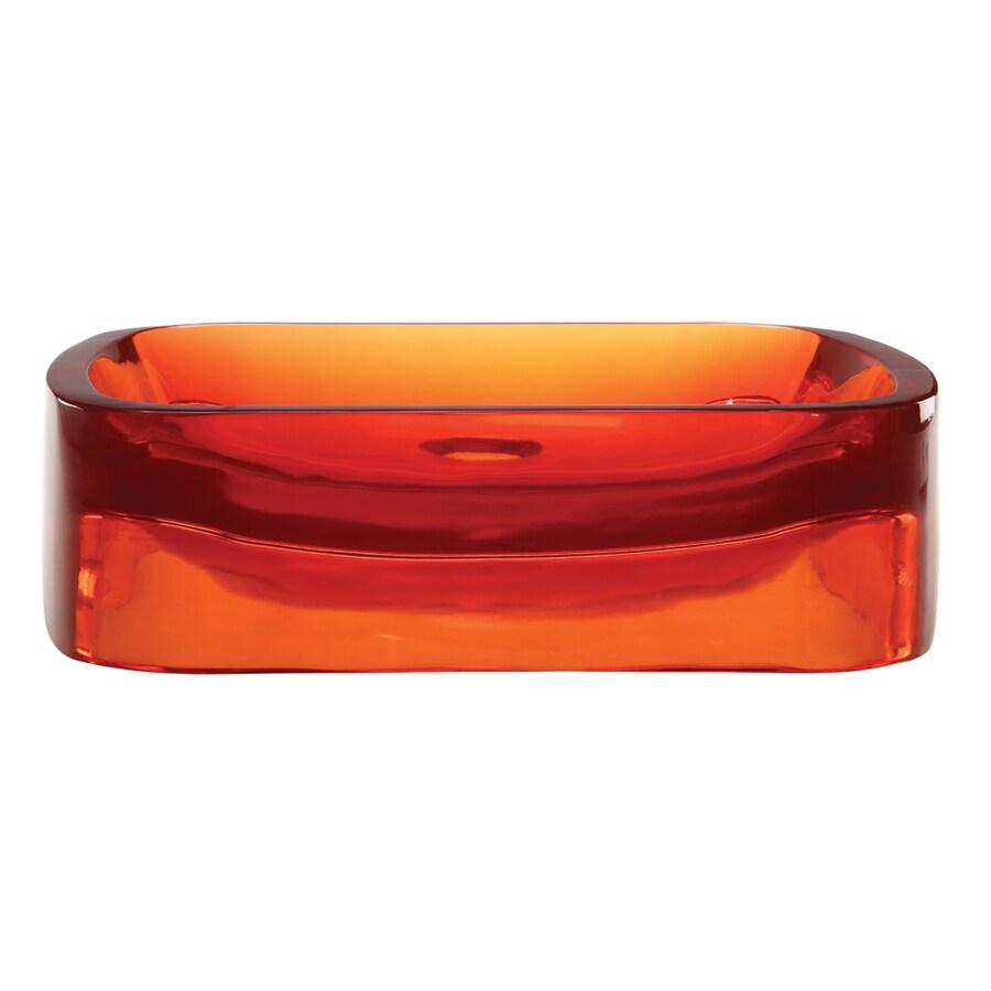 DECOLAV Incandescence Rage Resin Vessel Rectangular Bathroom Sink