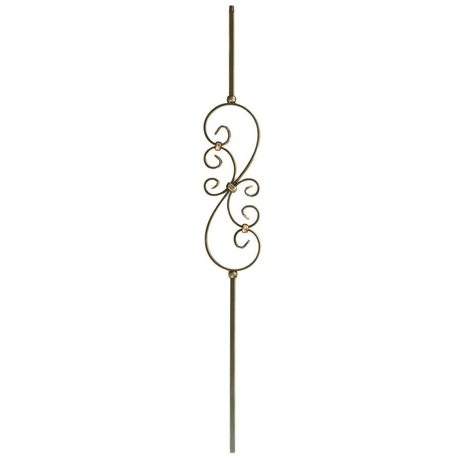 WM Coffman 44-in Oil Rubbed Copper Wrought Iron Scroll Stair Baluster