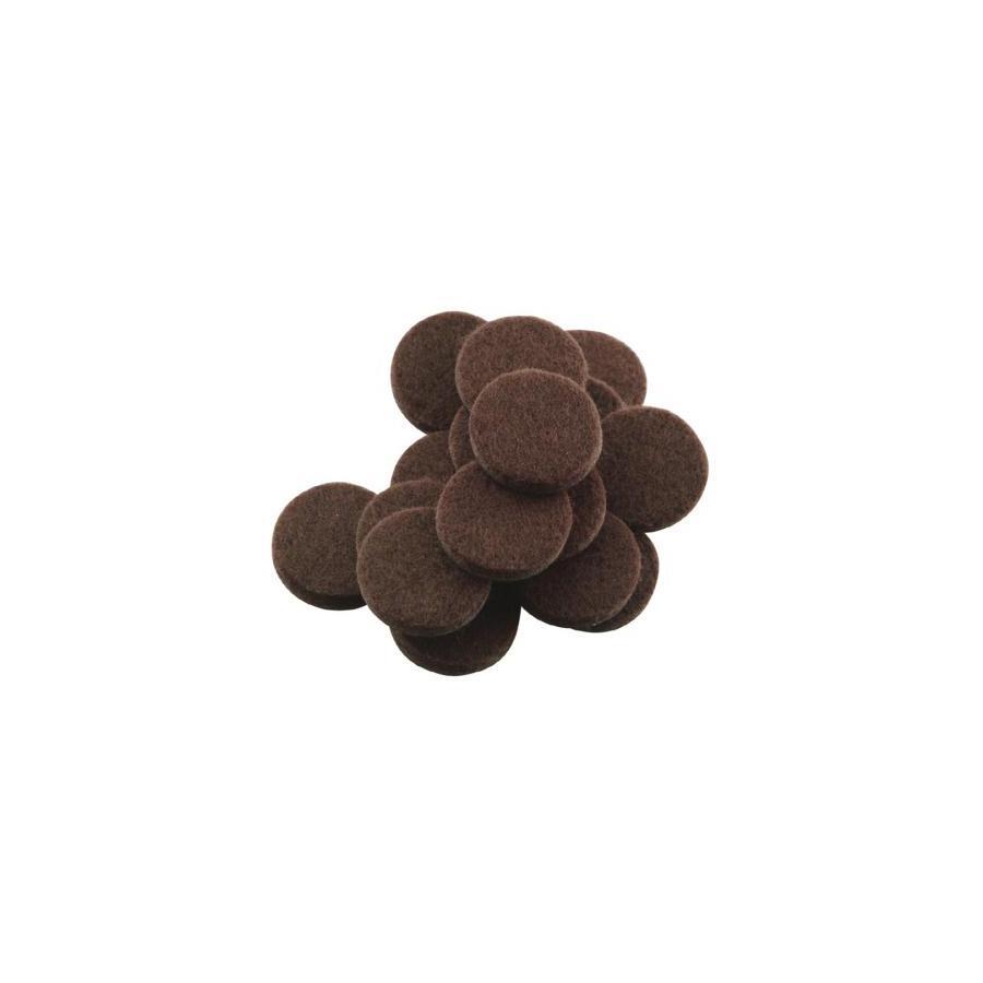 Waxman 48-Pack Brown Round Felt Pads