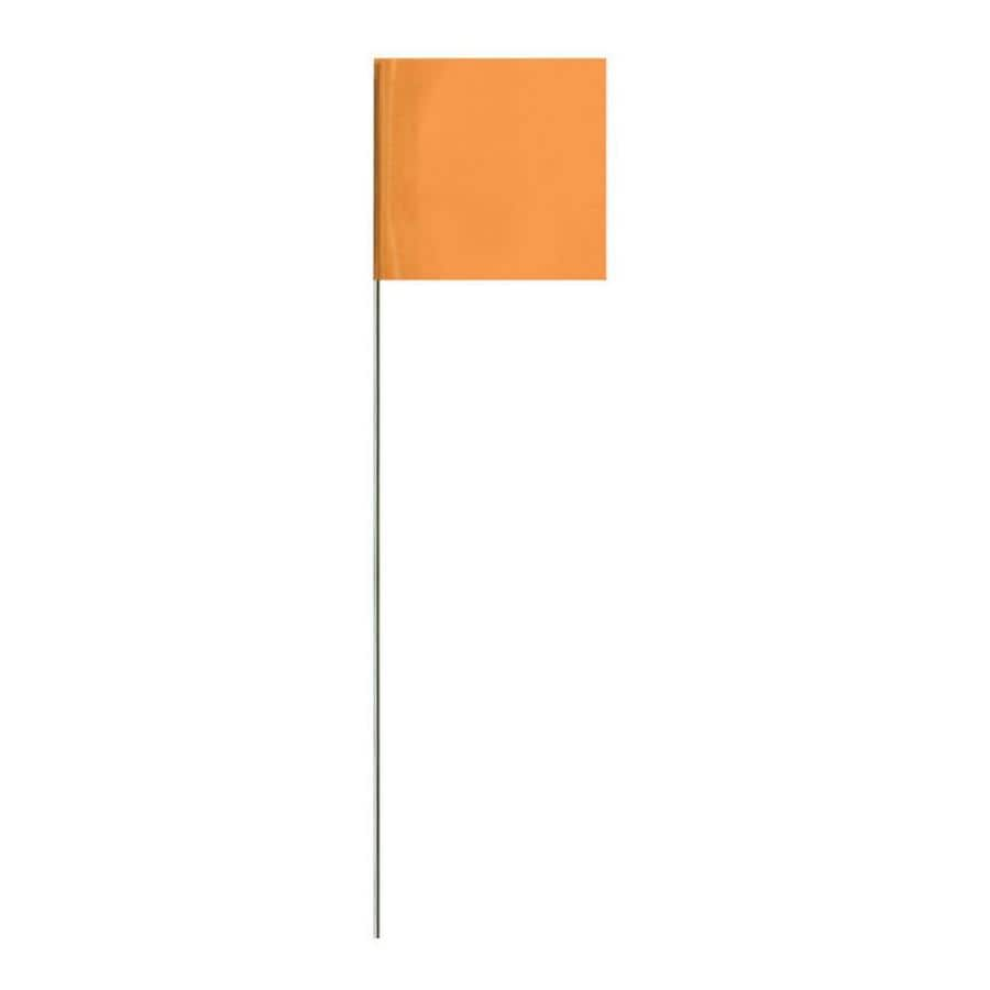 Presco 21-in Orange PVC Marking Flag