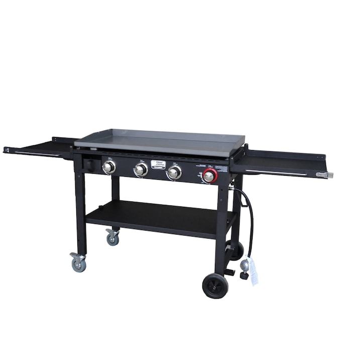 Blue Rhino Razor Griddle Black/Powder Coated 4-Burner Liquid Propane Gas Grill