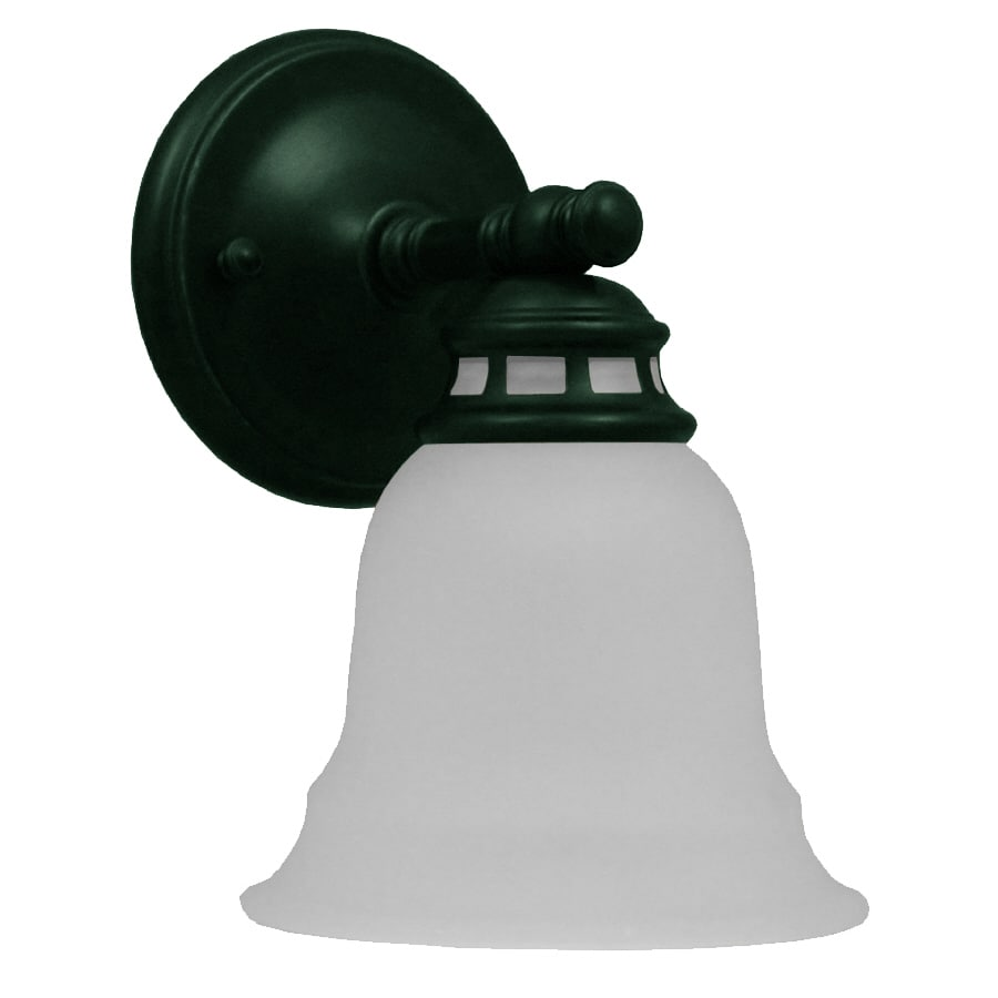 Project Source Fallsbrook 6.14-in W 1-Light Oil-Rubbed Bronze Arm Hardwired Wall Sconce