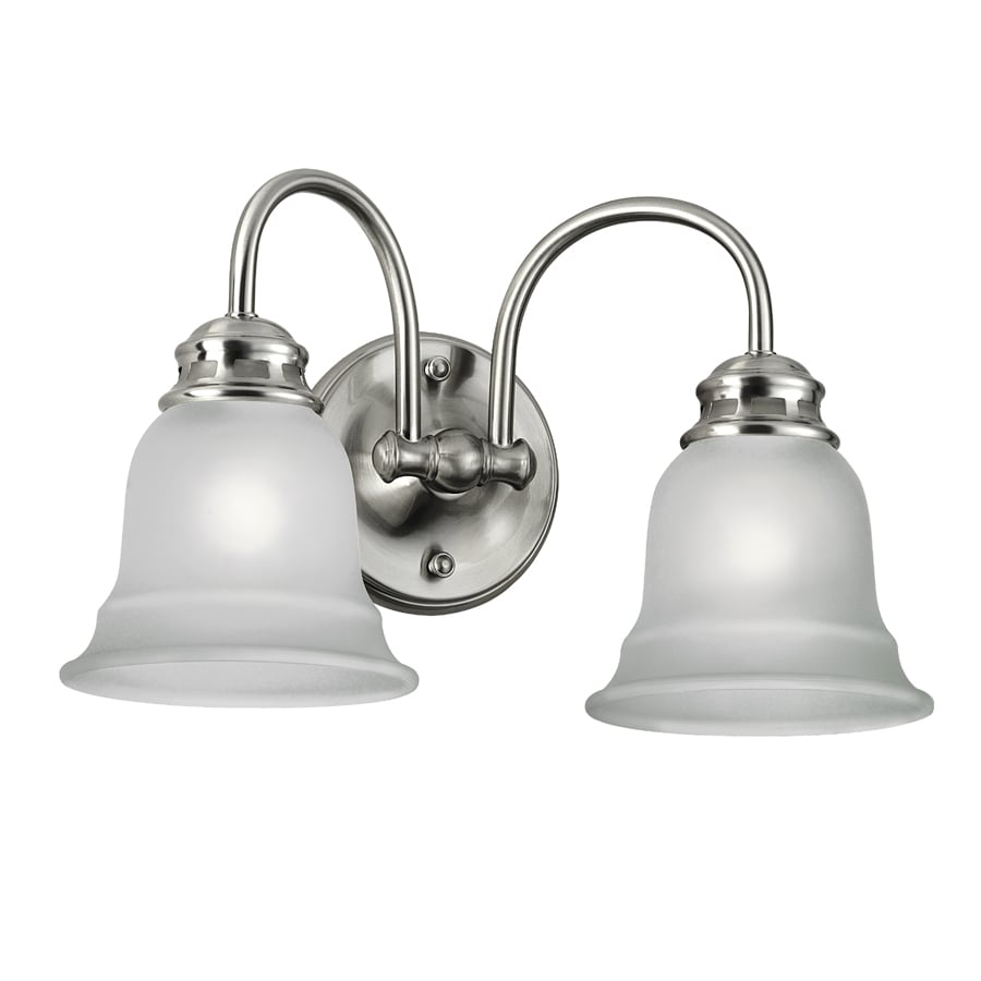 Shop Project Source Tavern 2-Light Brushed Nickel Vanity Light at Lowes.com