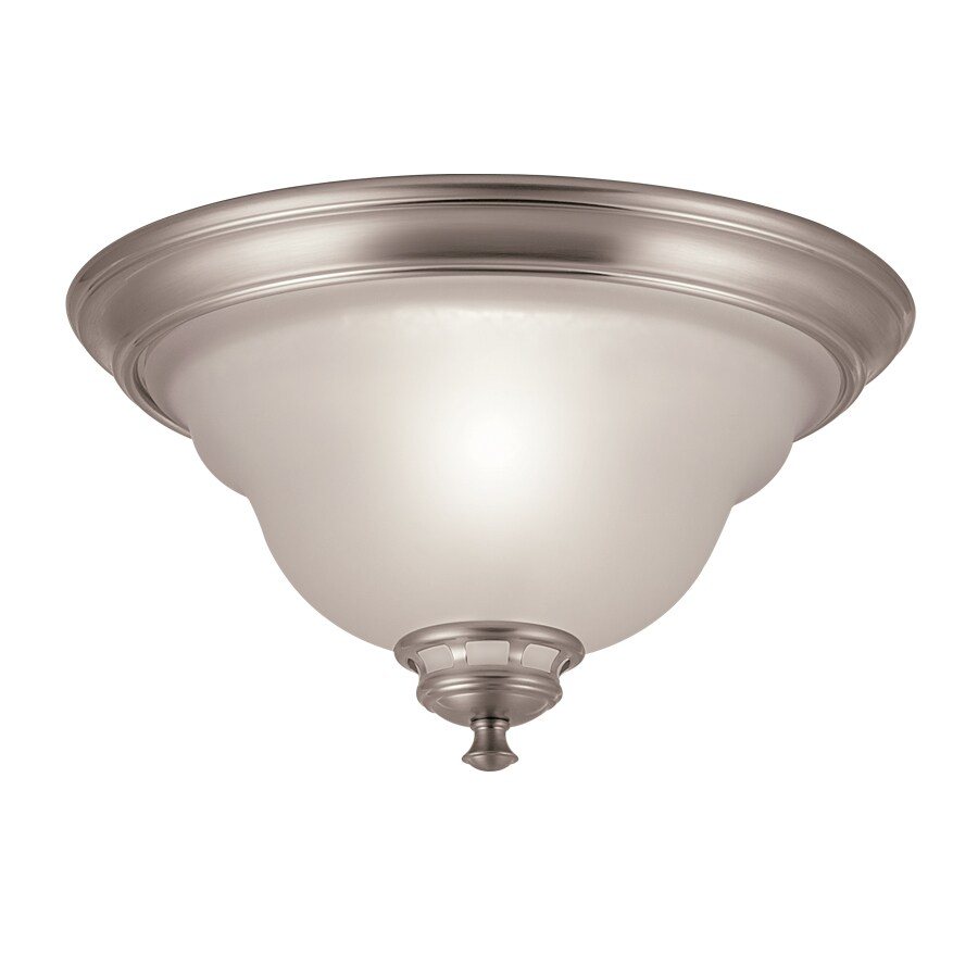 source 13 in w brushed nickel ceiling flush mount light at