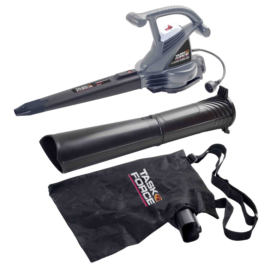 Task Force 12-Amp 375-CFM 230-MPH Corded Electric Leaf Blower with Vacuum Kit