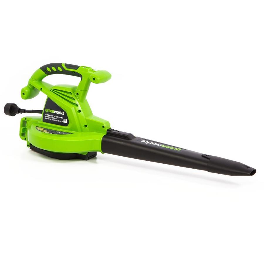 Greenworks 12-Amp 380-CFM 230-MPH Medium-Duty Corded Electric Leaf Blower with Vacuum Kit