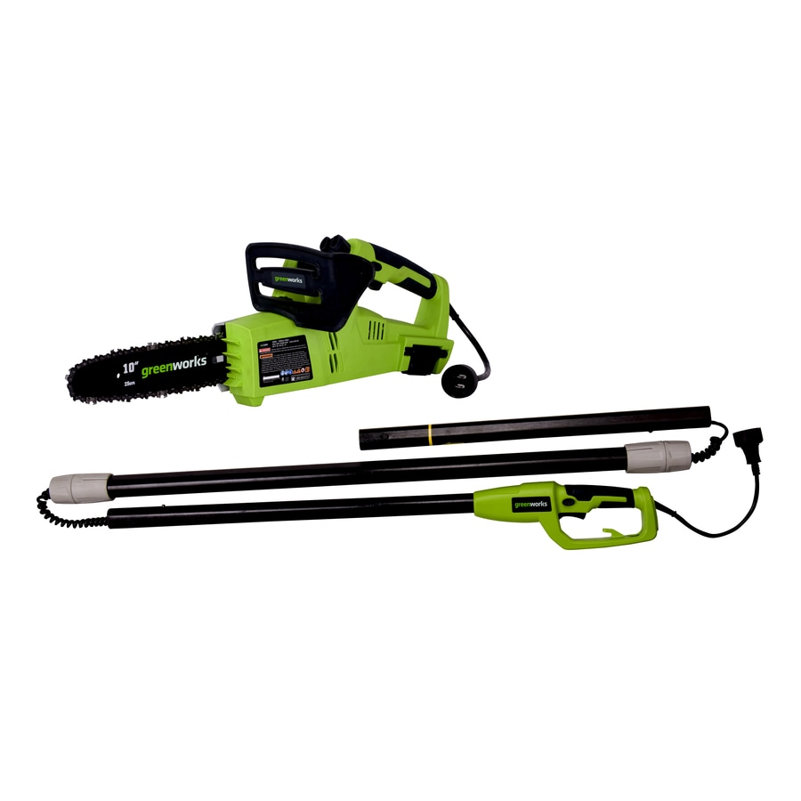 Greenworks 10-in 7-Amp Corded Electric Pole Saw