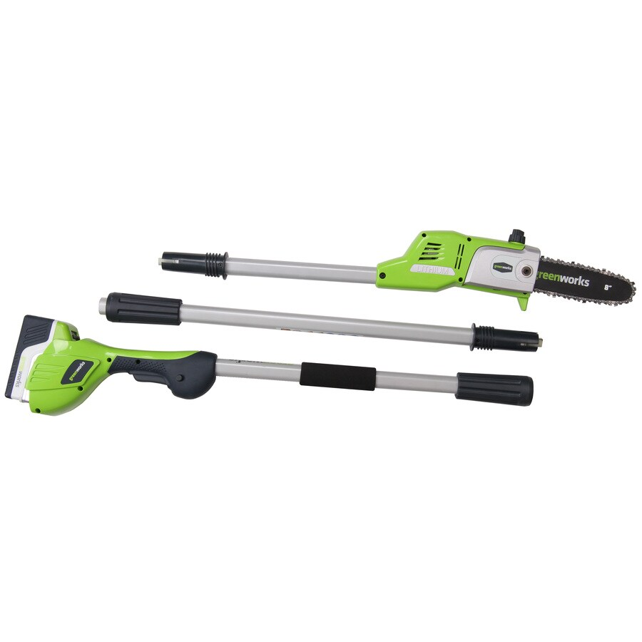 Greenworks 20-Volt Lithium Ion (Li-ion) 8-in Cordless Electric Pole Saw