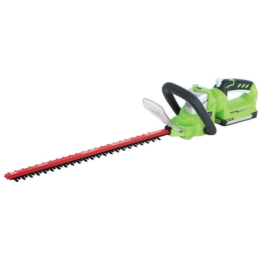 Greenworks 24-Volt 22-in Dual Cordless Hedge Trimmer