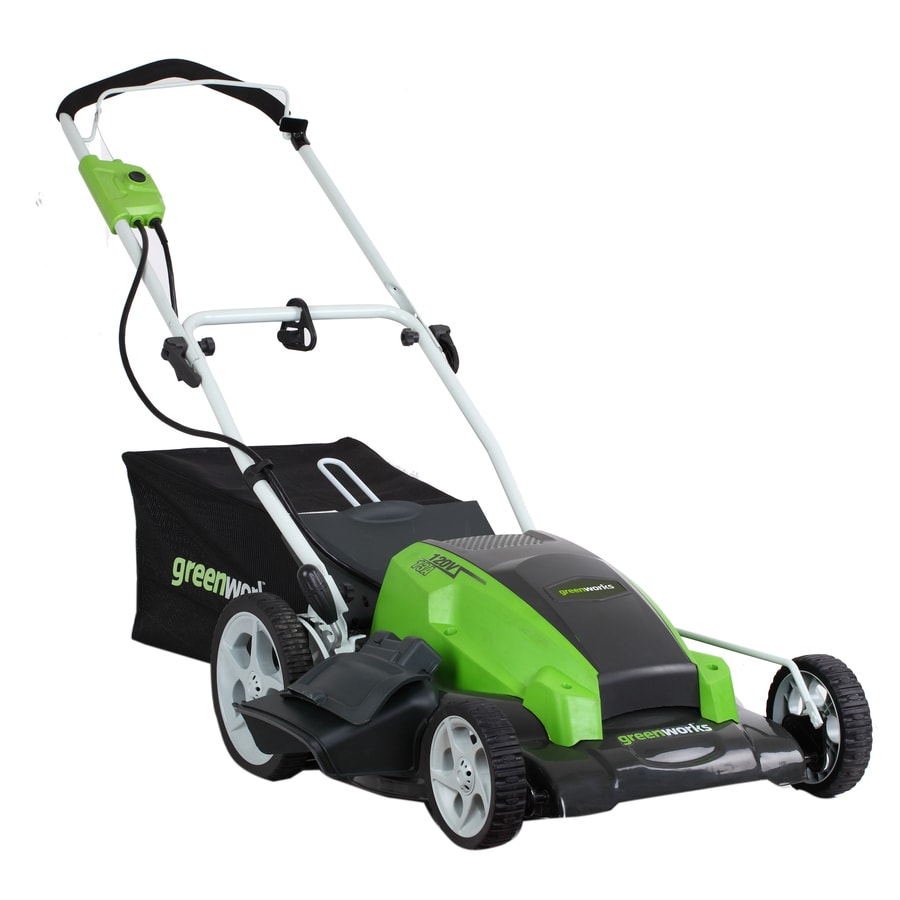Greenworks 13-Amp 21-in Corded Electric Push Lawn Mower with Mulching Capability