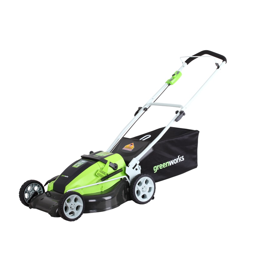Greenworks 36-Volt 19-in Cordless Electric Push Lawn Mower with Mulching Capability