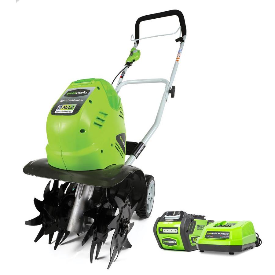 Greenworks 40-Volt Lithium Ion (Li-ion) 10-in Cordless Electric Cultivator