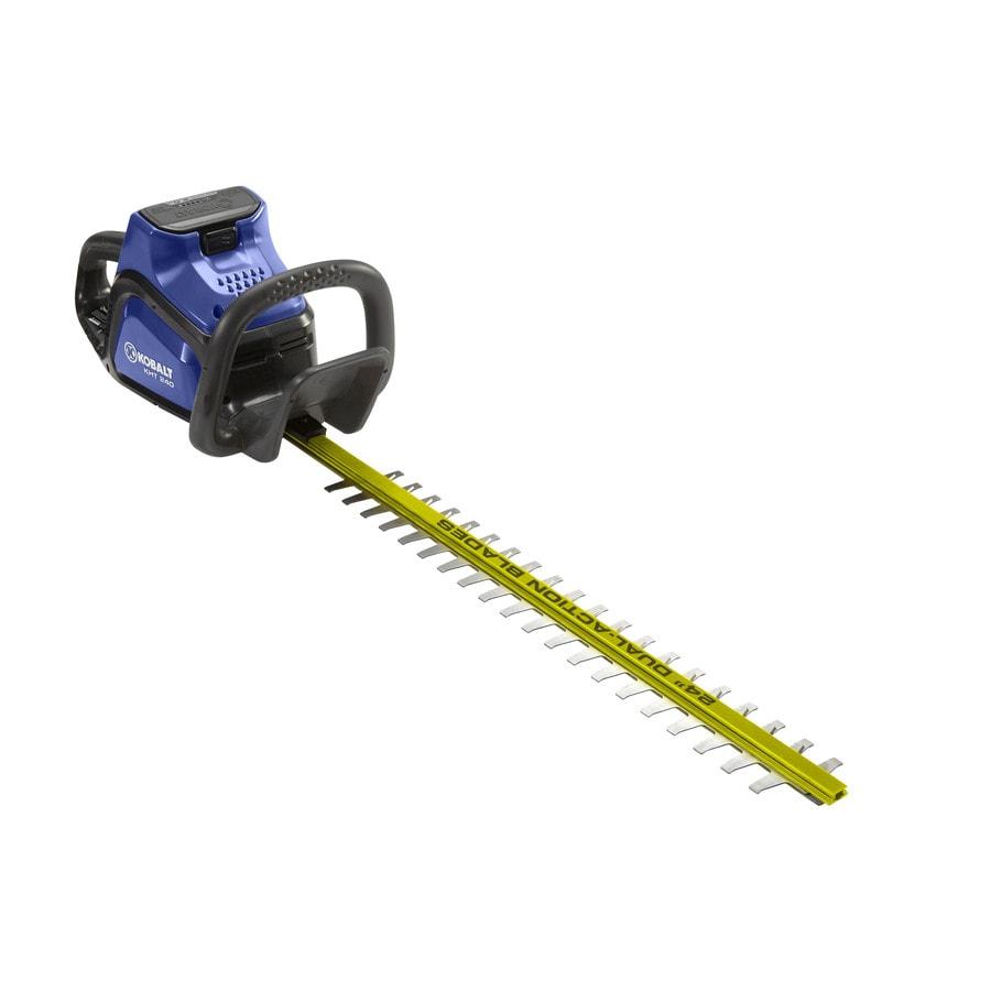 Kobalt 40-Volt Max 24-in Dual Cordless Hedge Trimmer