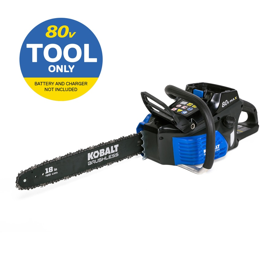 Kobalt 80-Volt Max Lithium Ion (Li-ion) 18-in Cordless Electric Chainsaw (Tool Only)