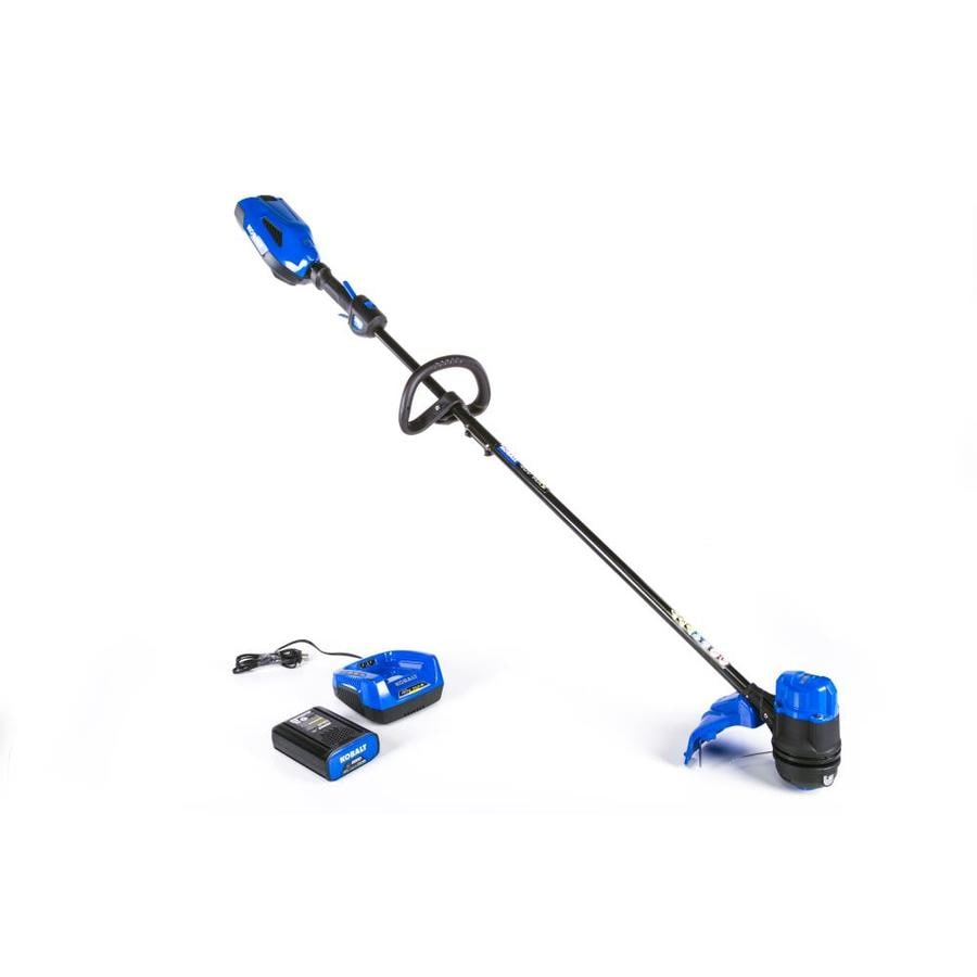 Kobalt 40 Volt Max 13 In Straight Cordless String Trimmer With Edger Capable Battery Included In The Cordless Electric String Trimmers Department At Lowes Com