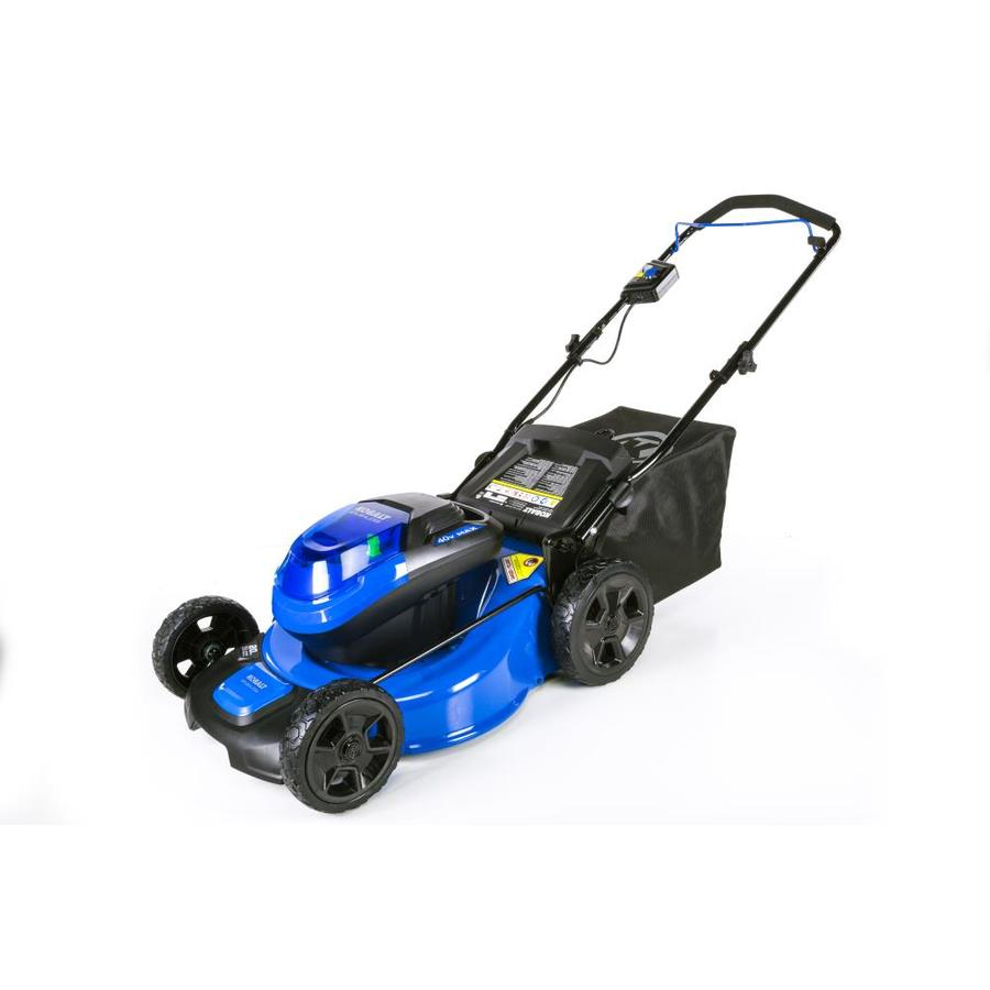 Kobalt 40 Volt Max Brushless Lithium Ion Push 20 In Cordless Electric Lawn Mower In The Cordless Electric Push Lawn Mowers Department At Lowes Com