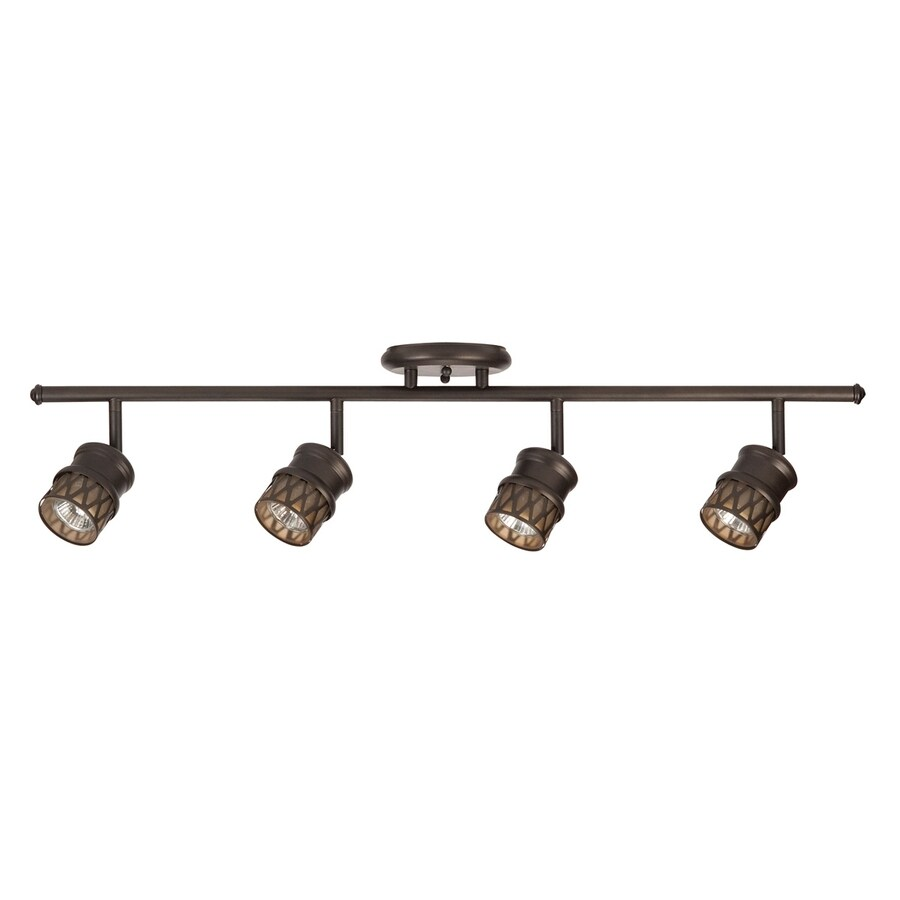 allen + roth Eva 4-Light 32-in Oil-Rubbed Bronze Dimmable Fixed Track Light Kit